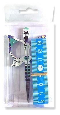 1 Cat Scissor and 1 60 Tape Measure - Blue