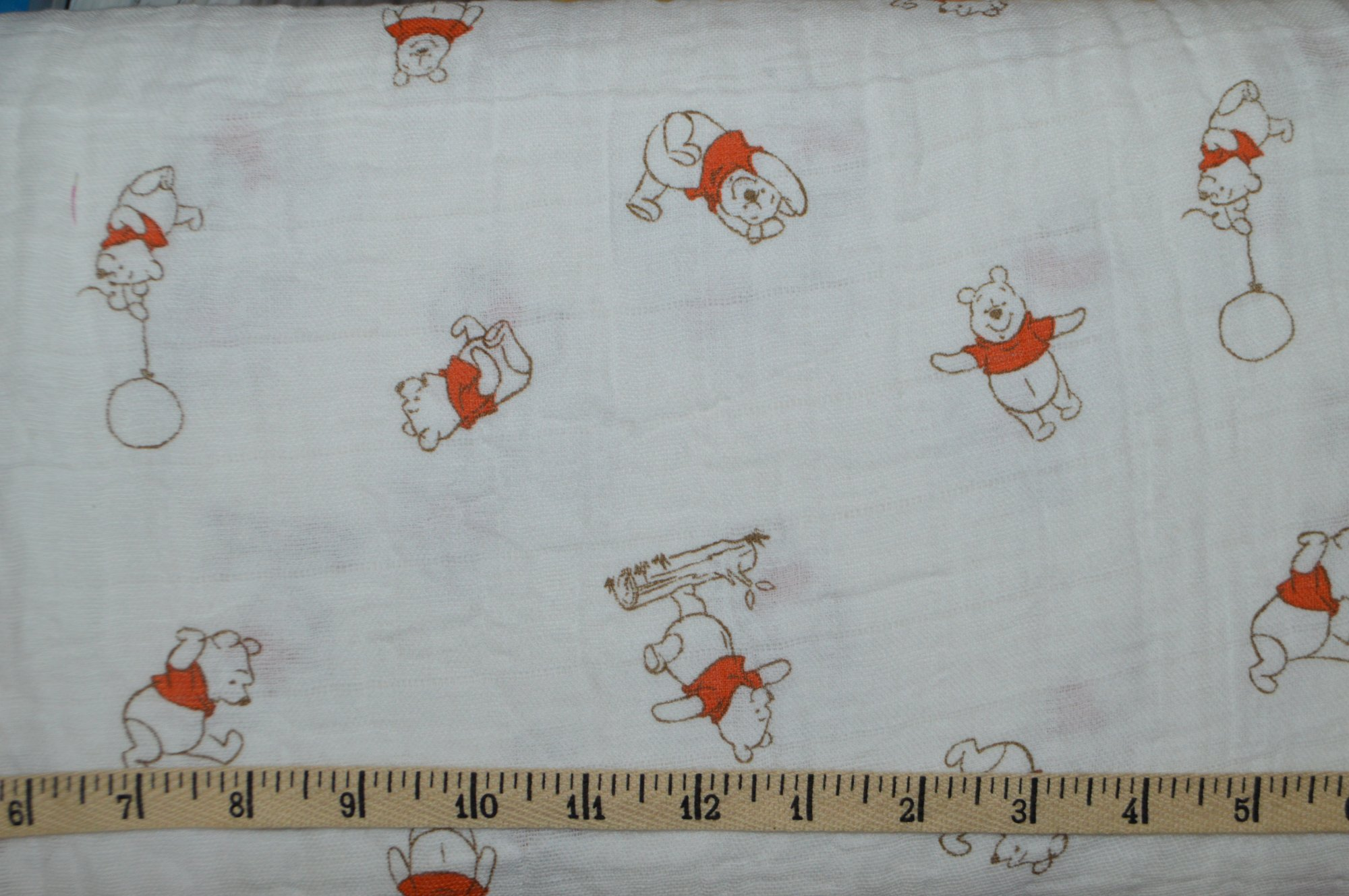 Camelot Fabrics. Pooh Bear SWADDLE CLOTH