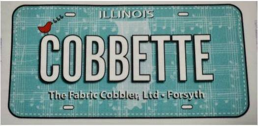 2018 Row by Row FabricPlate Cobbette Teal