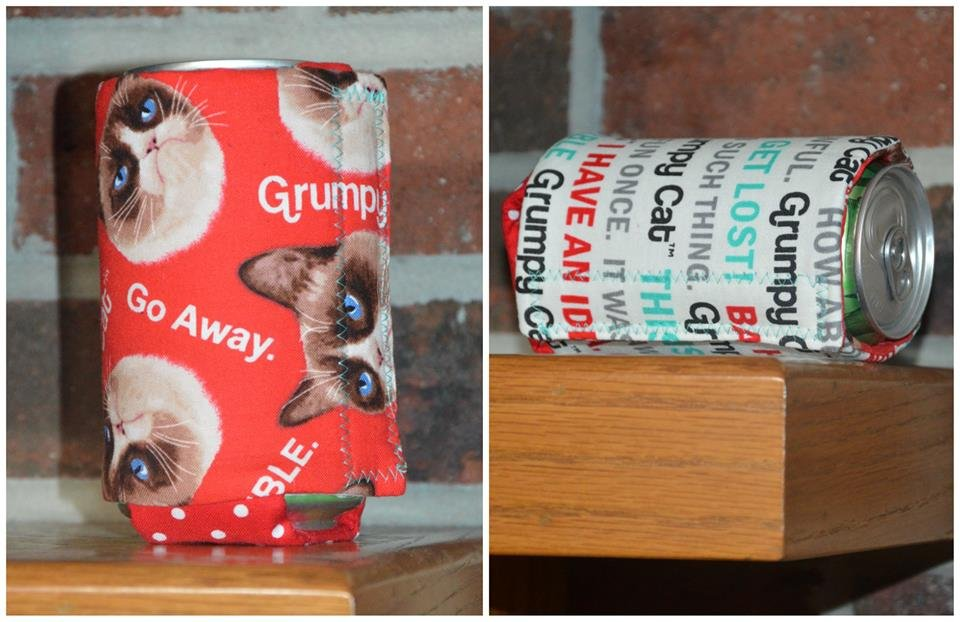 Grumpy Cat Red Soda Cozy
