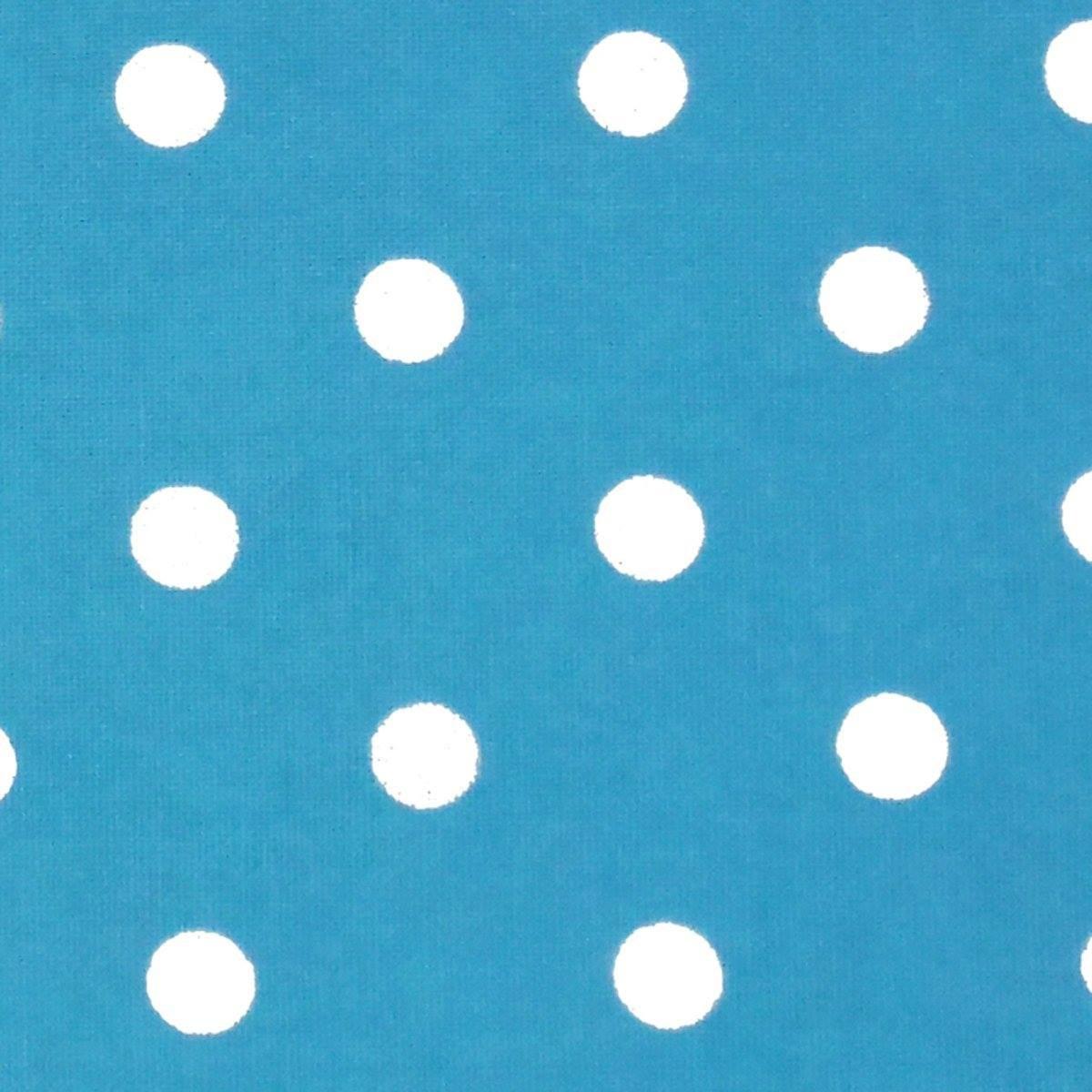 16 Toweling White Polka Dot on Turquoise