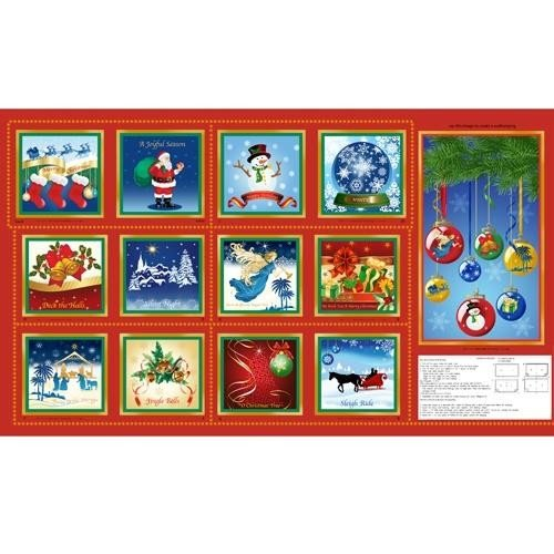 A Joyful Season Book Panel 2/3 yd