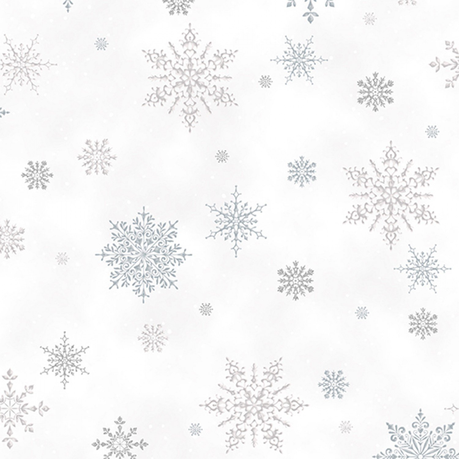 A Winter's Sky. Snowflakes Frost Silver Metallic