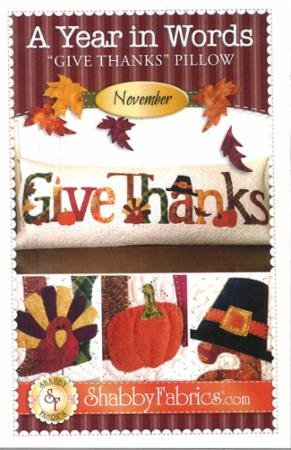 A Year In Words - Give Thanks/Nov Pattern