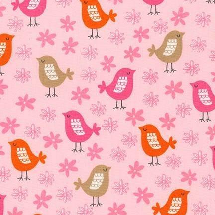 Acorn Forest. Birds Pink