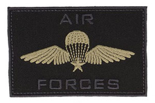 Air Forces Rectangle Iron on Patch