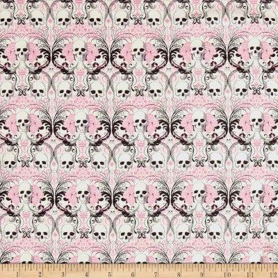 Alexander Henry. Regent Skull Pink KNIT
