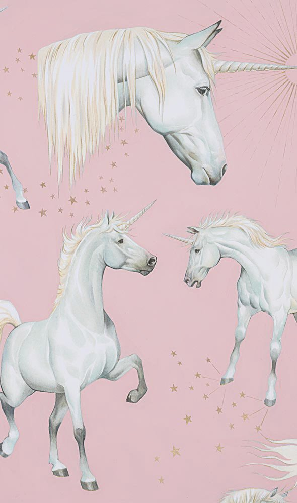 Alexander Henry. Stars of the Unicorn Pink Metallic