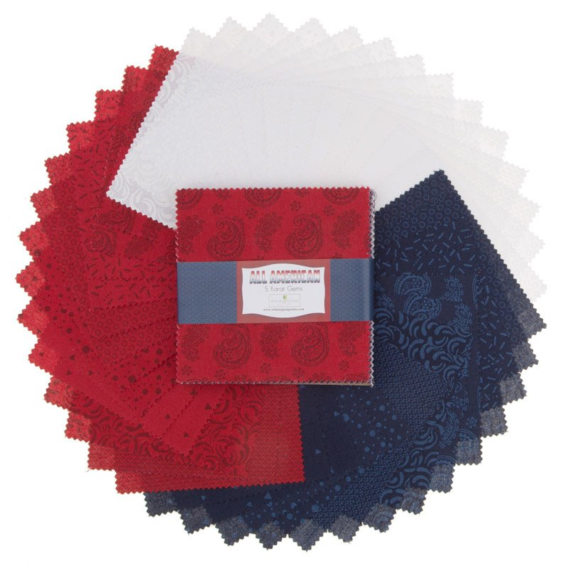 All-American. 5 Karat Mini-Gems 24 - 5 inch squares