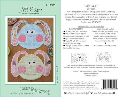 All Ears Placemat Pattern
