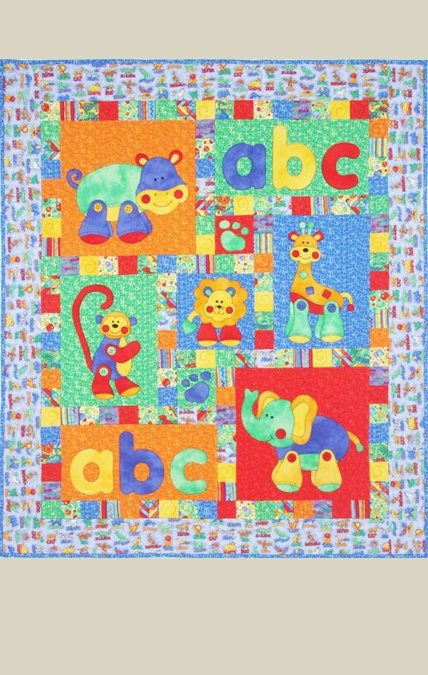 Alphabet Jungle Pattern