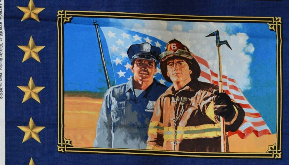American Heroes Law Enforcement Panel (approximately 12 x 22)