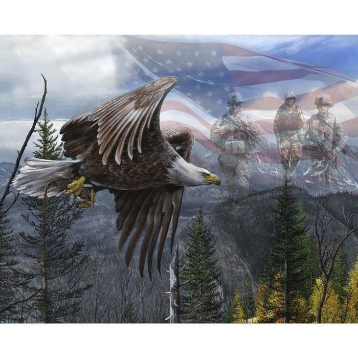 American Pride. Free Like An Eagle Panel DIGITALLY PRINTED