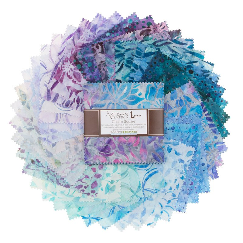 Artisan Batiks. Anemone 2. Charm Squares 5 42 pieces