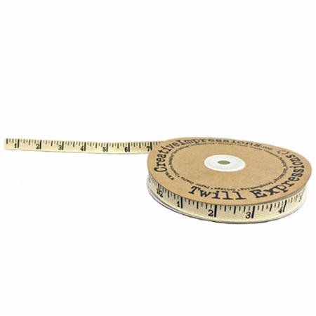 Antique Ruler Twill Ribbon