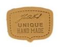 Buckskin Unique Hand Made Leather Shield Applique