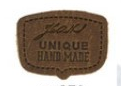 Chocolate Unique Hand Made Leather Shield Applique
