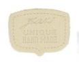 Eggshell Unique Hand Made Leather Shield Applique