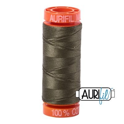 Army Green Cotton Mako Thread 50wt 200m