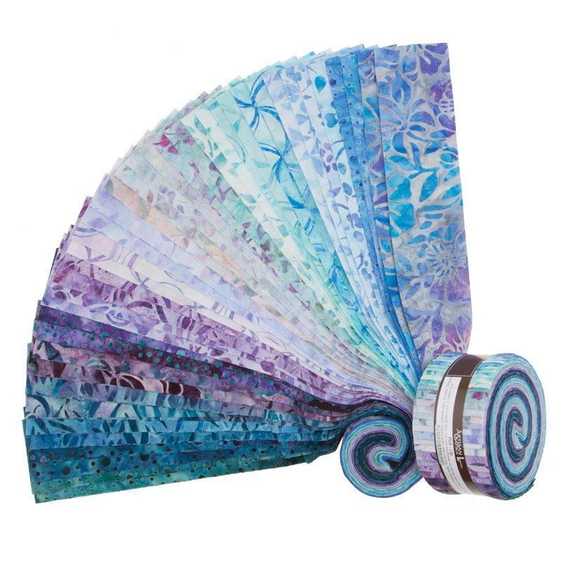 Artisan Batiks. Anemone 2. Roll Ups 2-1/2 inch 40 strips