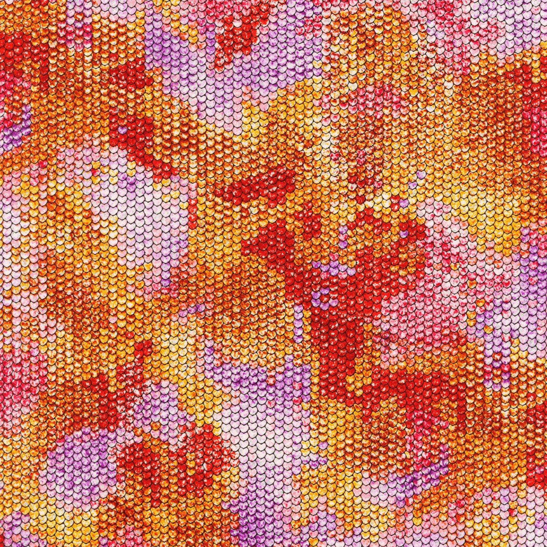 Atlantia. Scale Texture Metallic Poppy