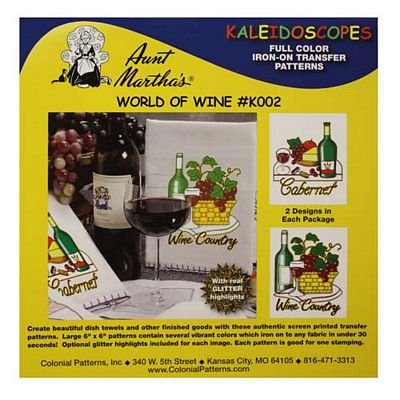 Aunt Martha's. World Of Wine Iron-On Transfer