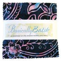Benartex. Basically Batik Charm Pack 40 - 5 inch