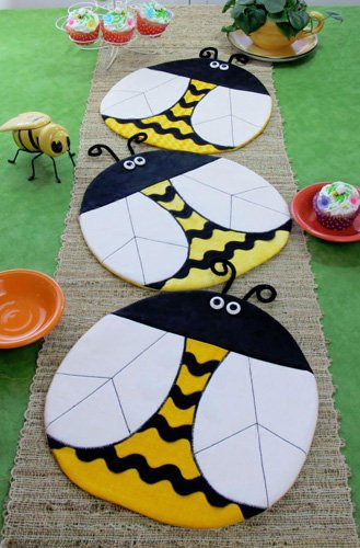 Bee Happy Placemat Pattern