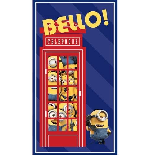Bello! Minion Telephone Booth 2/3 yd Panel