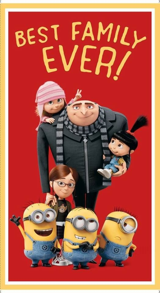 Best Family Ever. Despicable Me 3 Panel 2/3 yd