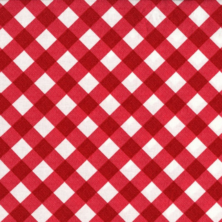 Bias Gingham Red Laminates