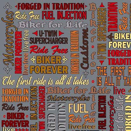 Biker For Life. Biker Lingo Dark Gray