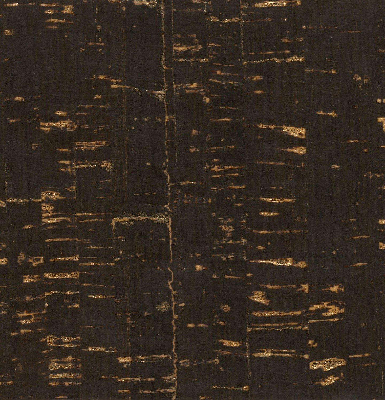 Black w/Gold Metallic Cork Fabric 9 x 18 sheet
