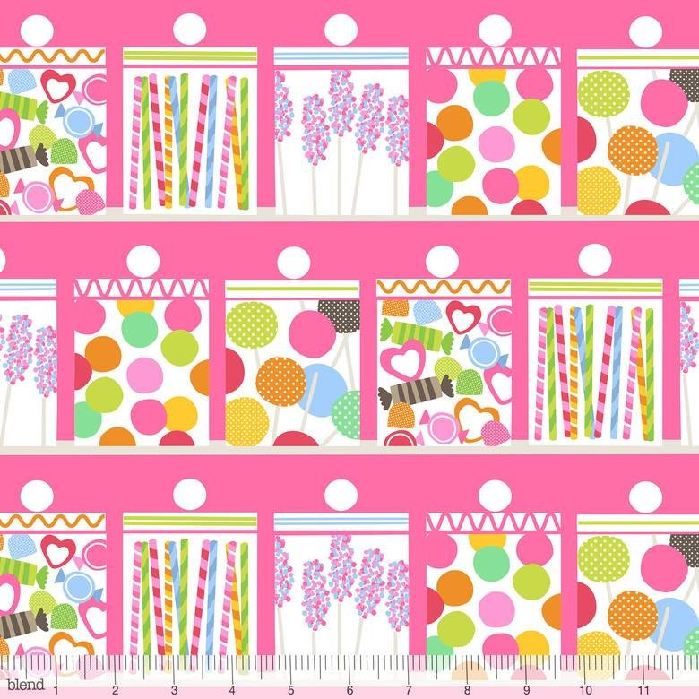Confectionery in Pink 2/3 Yd Repeat