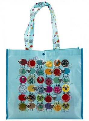 Blue Knitting Sheep Eco Tote