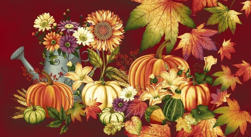 Autumn Album. Bountiful Harvest Panel 2/3 yd