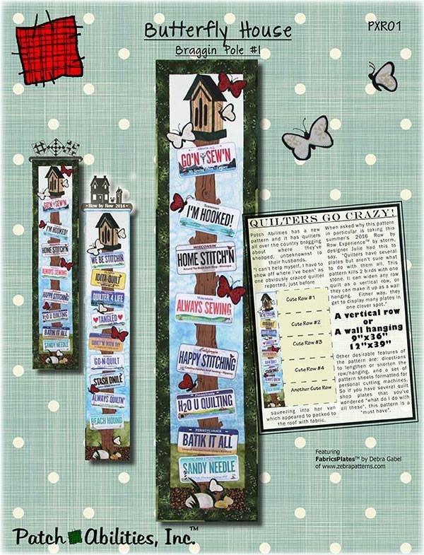 Braggin Pole #1/Butterfly House PATTERN