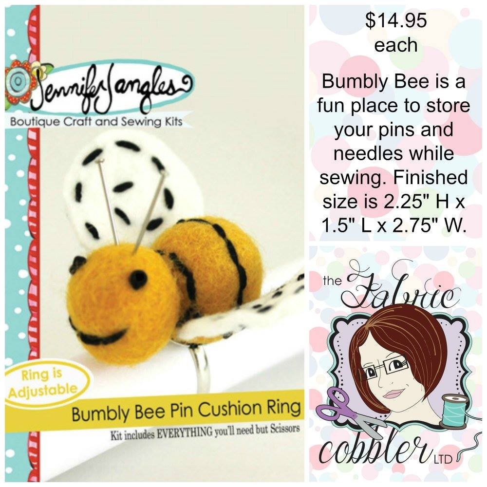 Bumbly Bee Pin Cushion Ring