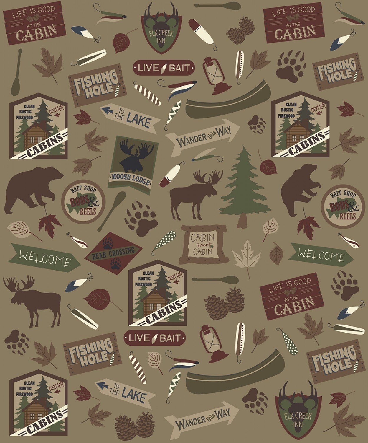 Cabin Fleece Blanket 48 x 60