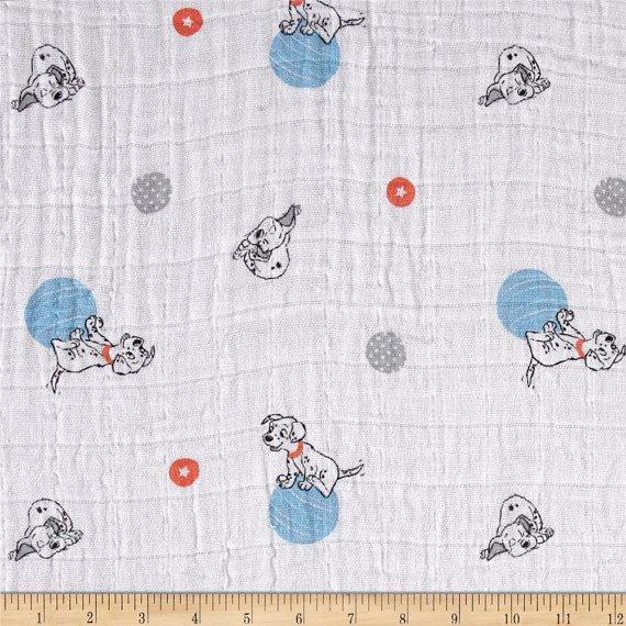 Camelot Fabrics. 101 Dalmatians SWADDLE CLOTH