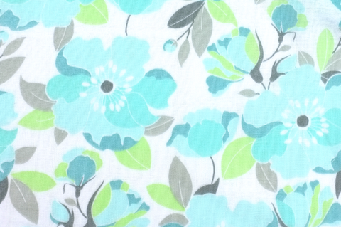 Beach House. Floral in Tide DOUBLE GAUZE