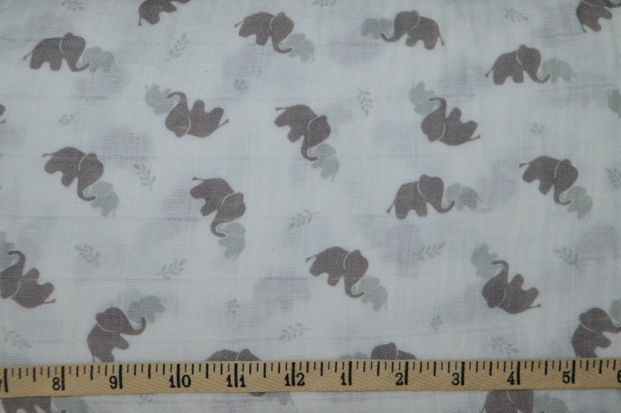 Elephants in Gray SWADDLE CLOTH