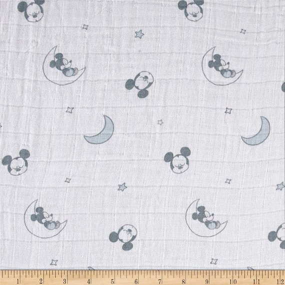 Camelot Fabrics. Sleeping Mickey Mouse SWADDLE CLOTH