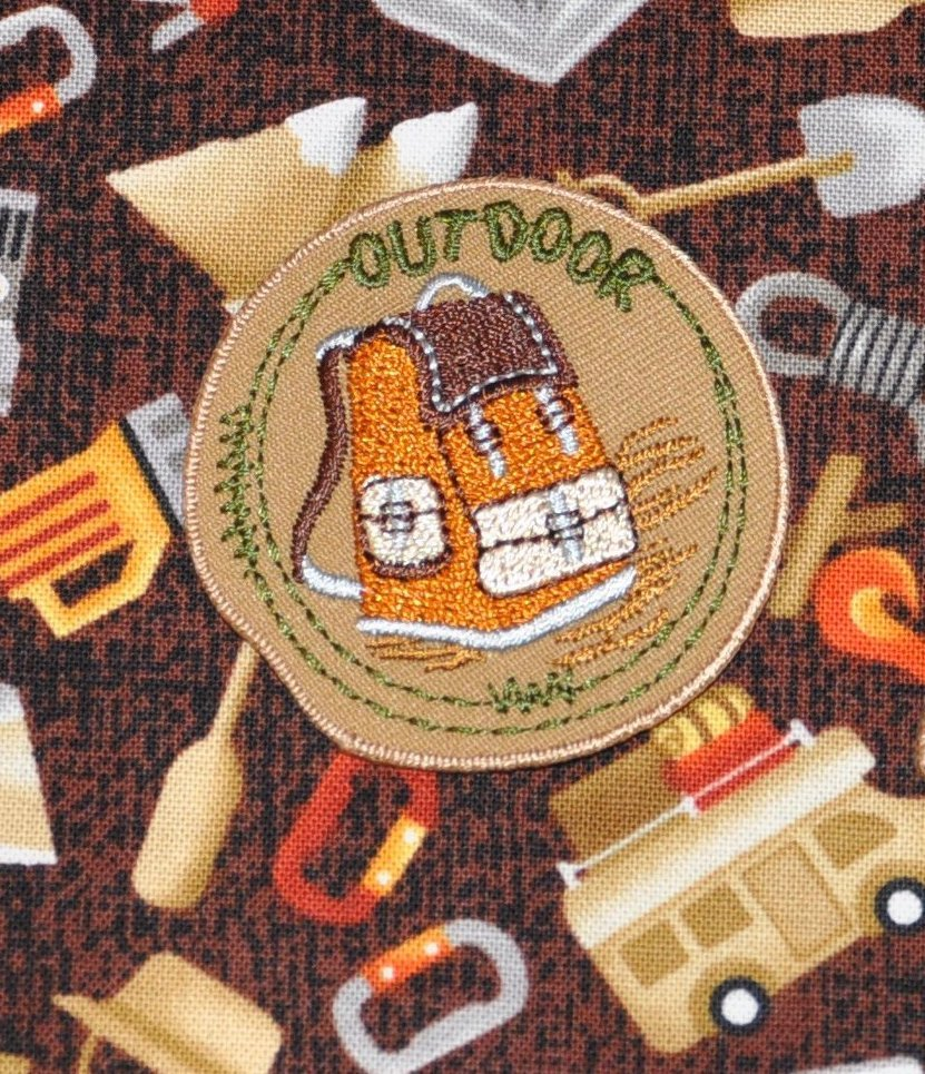 Camping Backpack Iron on Patch