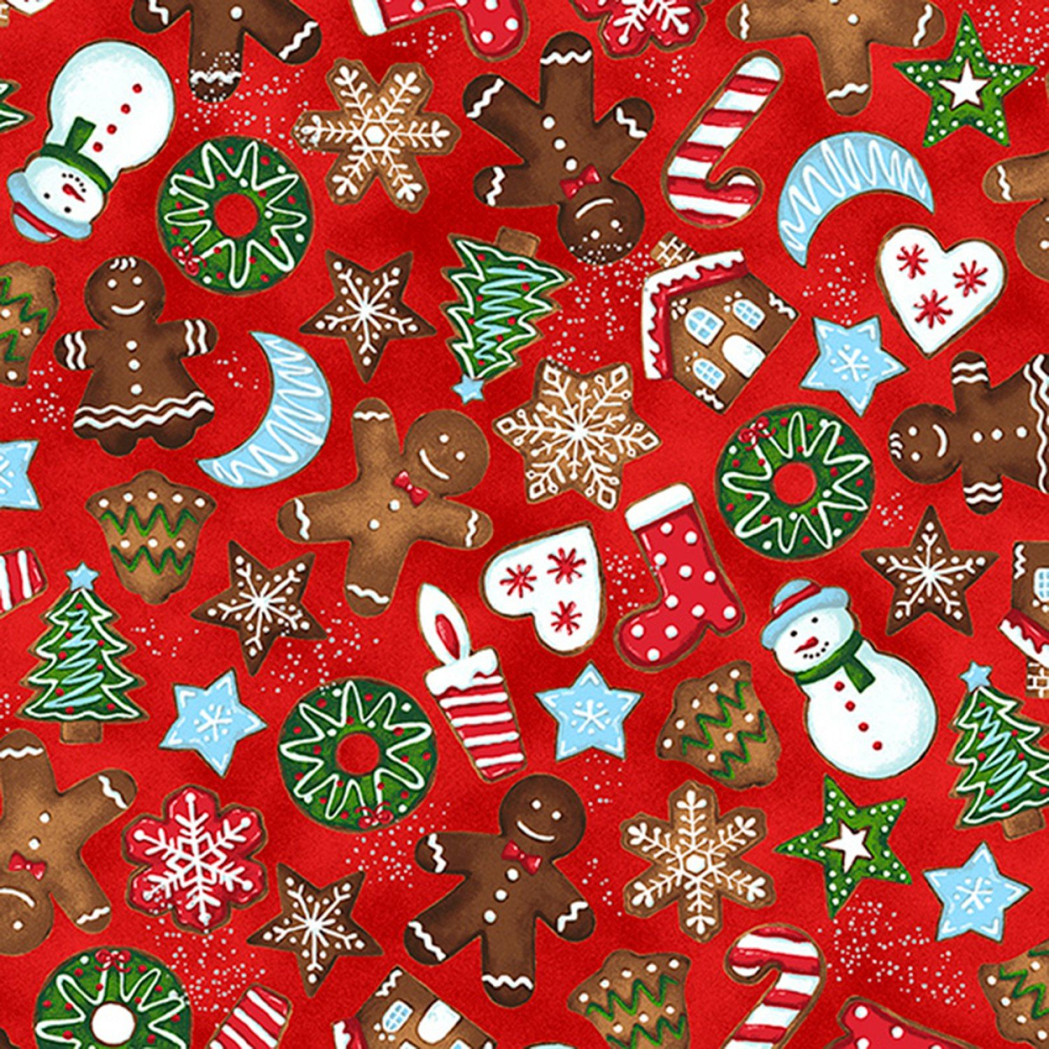 Candy Cane Lane. Cookies Red Silver Metallic