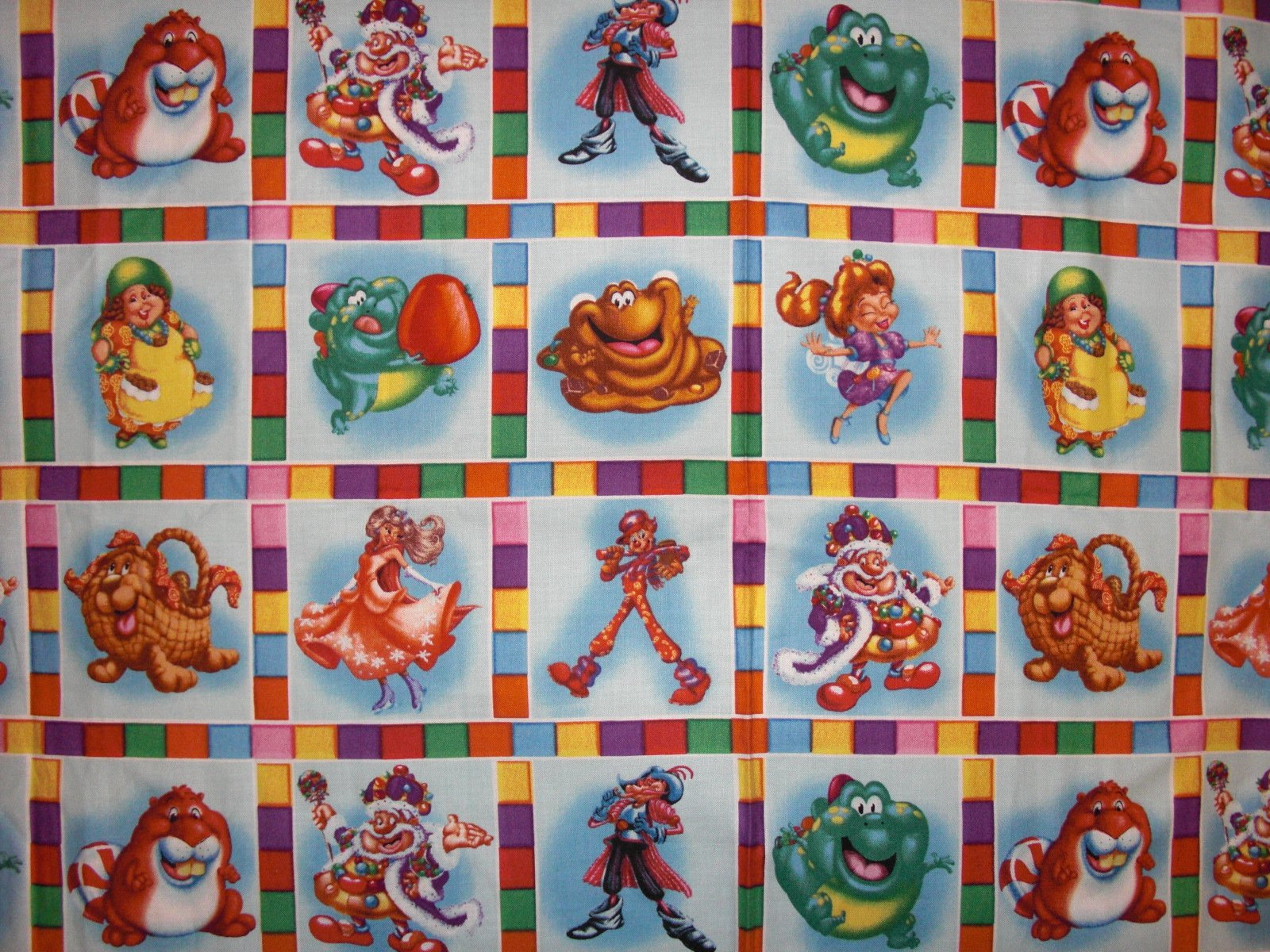 Candyland. Character Blocks 2/3 yd