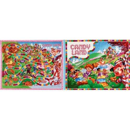 Candyland Game Board Panel 1/2 yd