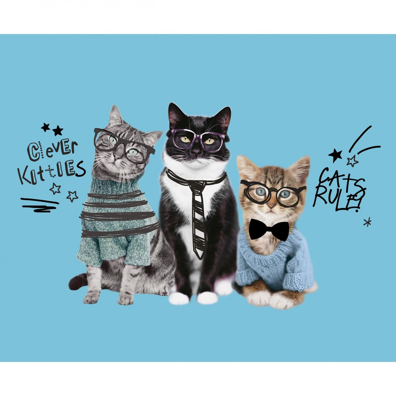 Cats Rule. Cats Digitally Printed Panel Full Yard
