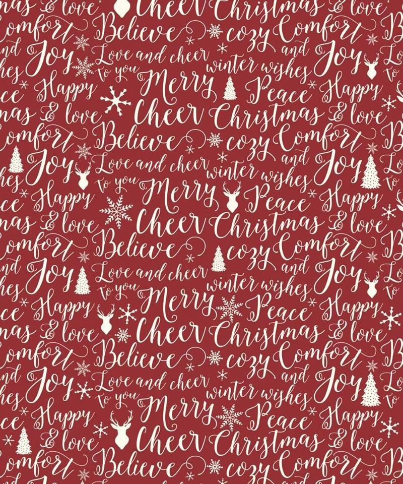 Christmas Words Fleece Blanket 50 x 60