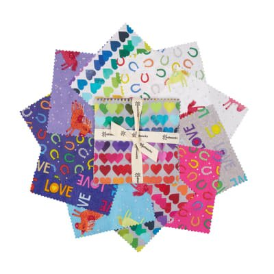 Clothworks. Shine Bright 5 Charm Pack 42 pieces